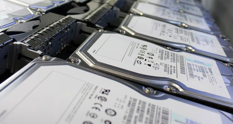 Hard drives being wiped